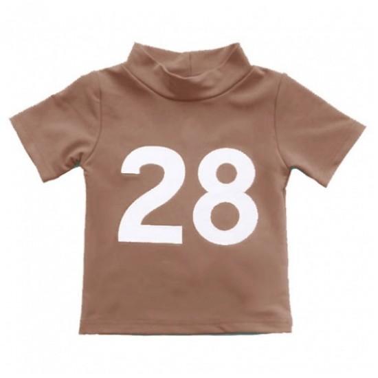 Tricou de inot pentru copii, cu filtru UV - Petit Crabe - Ash Mud