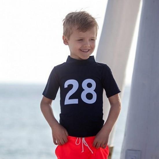 Tricou de inot pentru copii, cu filtru UV - Petit Crabe - Ash Blue