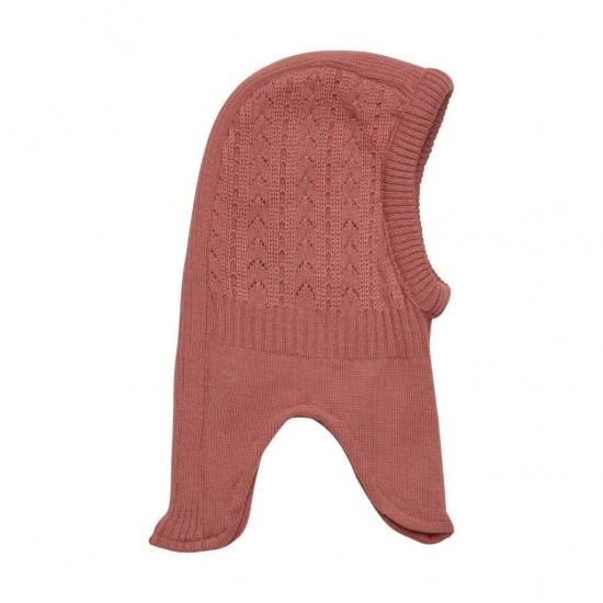 Winter Rose - Cagula calduroasa copii, lana merinos tricotata, captusita cu bumbac - En Fant