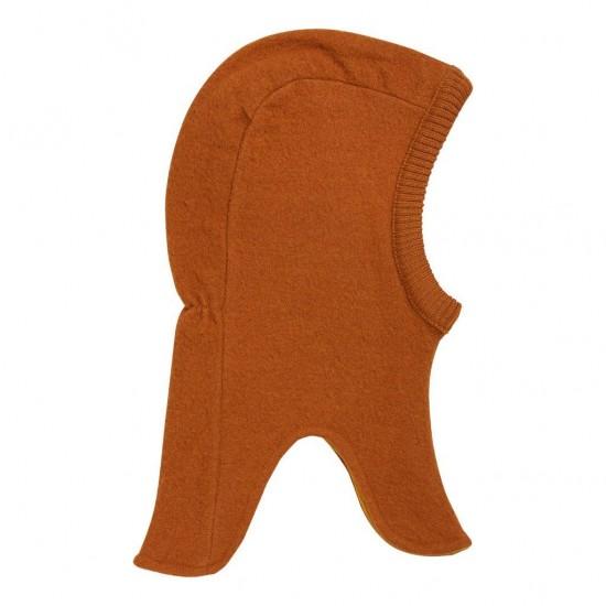 Warm Pumpkin - Cagula calduroasa copii, lana merinos tricotata, captusita cu bumbac - En Fant