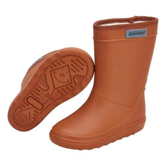 Warm Pumpkin - Cizme de ploaie captusite pentru copii - En Fant