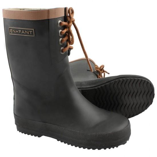 Black - Cizme antiderapante de ploaie pentru copii - En Fant
