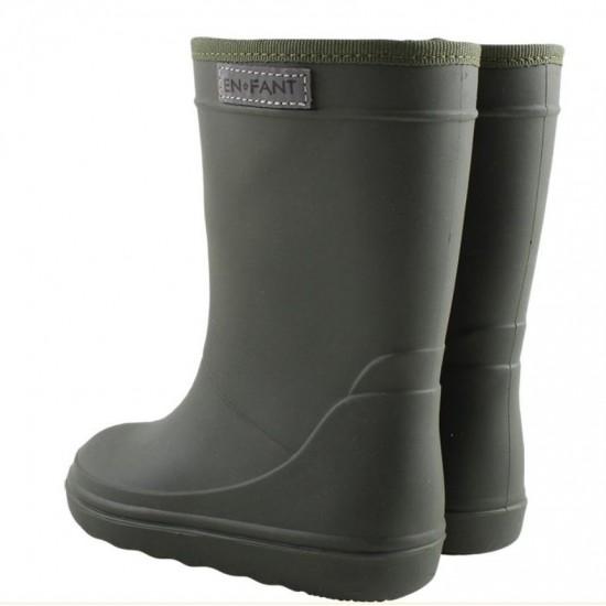 Cizme ultrausoare de ploaie pentru copii - En Fant - Dark Green