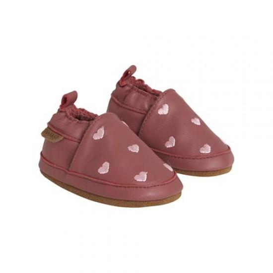 Pantofi barefoot, din piele, pentru copii - En Fant - Hearts