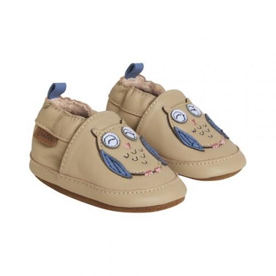 Pantofi barefoot, din piele, pentru copii - En Fant - Owl