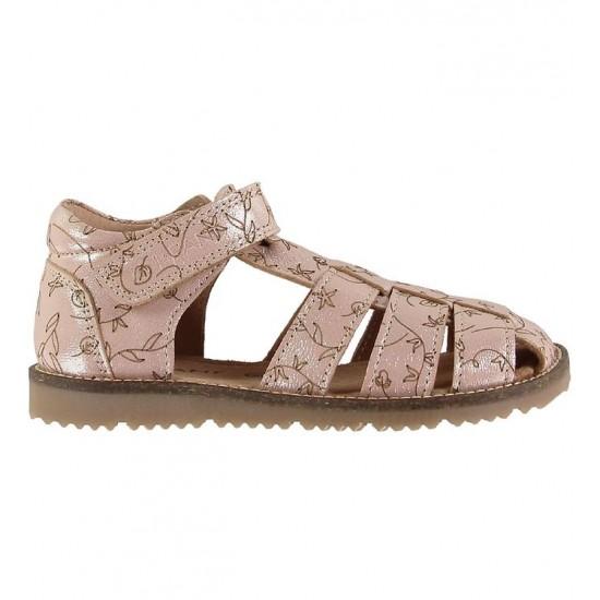 Sandale din piele cu inchidere velcro pentru copii - En Fant - Plain Big Flower