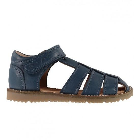 Sandale din piele cu inchidere velcro pentru copii - En Fant - Plain Big Navy