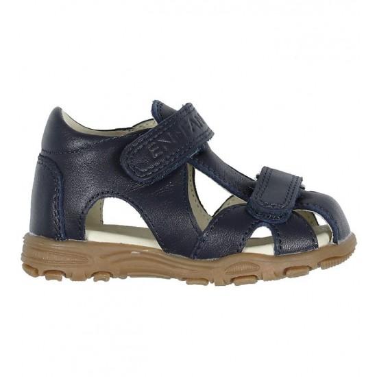 Sandale din piele cu inchidere velcro pentru copii - En Fant - Uranus Navy