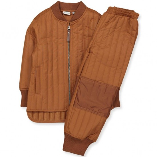 Set Leather Brown Ink Thermo matlasat - EnFant