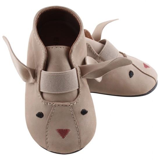 Pantofi barefoot, din piele, pentru copii - En Fant - Slippers Sand Mouse