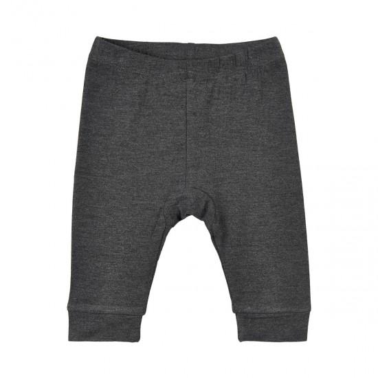 Pantaloni fini din bambus pentru bebelusi - Minymo - Dark Grey Melange