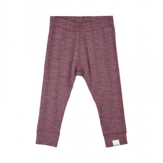 Tulipwood - Pantaloni fine rib leggings din lana merinos