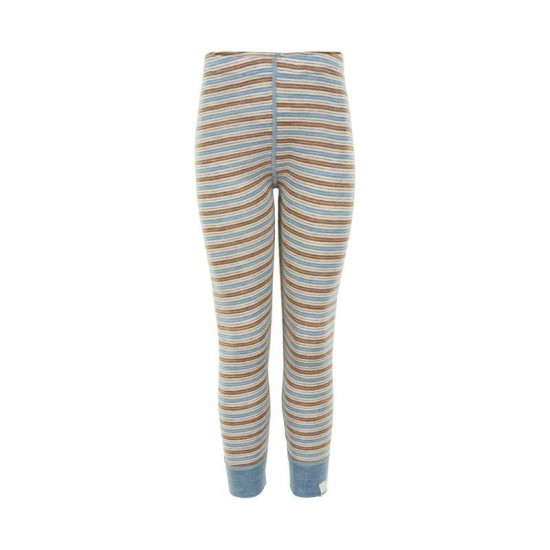 Pantaloni leggings mari din lana merinos - CeLaVi - Blue Shadow
