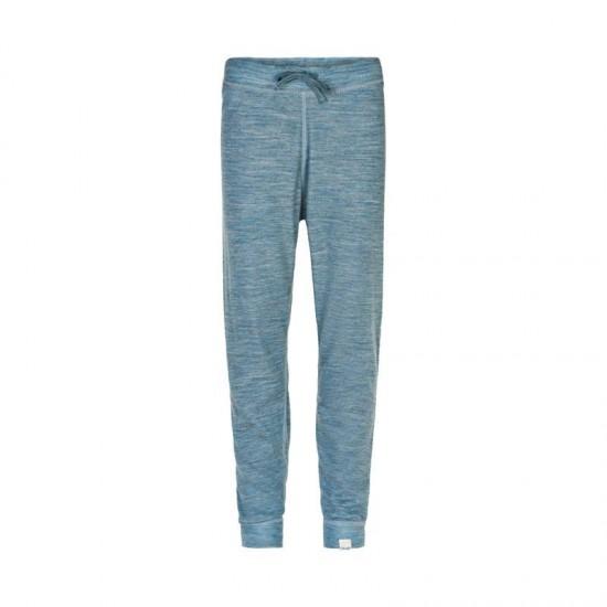 Pantaloni mari din lana merinos si bambus - CeLaVi - Blue Shadow