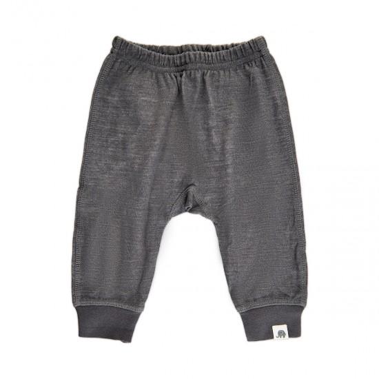 Pantaloni salvari din lana merinos si bambus - CeLaVi - Asphalt