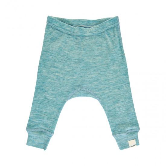 Pantaloni salvari din lana merinos - CeLaVi - Lulworth Blue
