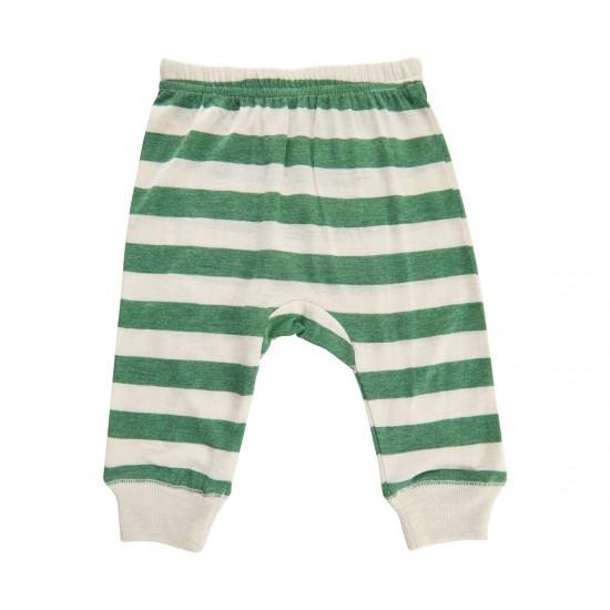 Pantaloni subtiri summertime din amestec bambus si lana merinos - CeLaVi - Elm Green