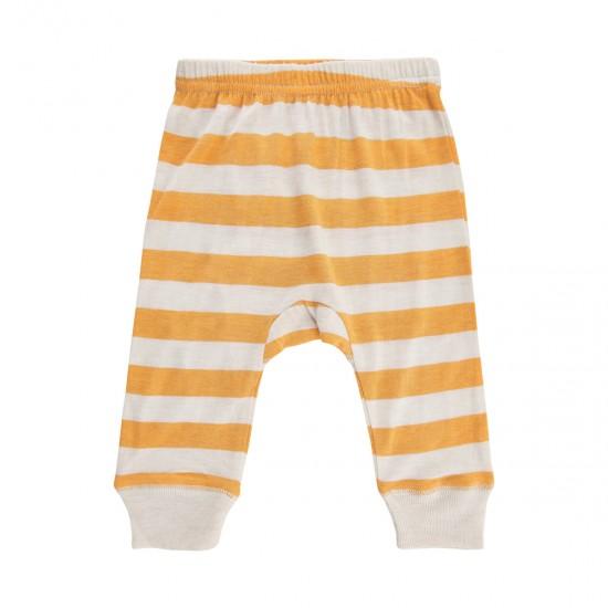 Pantaloni subtiri summertime din amestec bambus si lana merinos - CeLaVi - Mineral Yellow