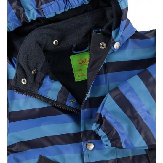 Jacheta copii PU impermeabila, cu interior de bumbac, pentru ploaie si vant - CeLaVi - Jersey Stripes