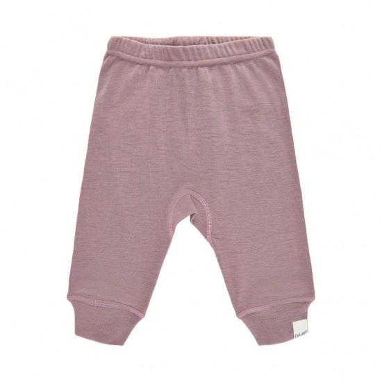 Pantaloni salvari din lana merinos - CeLaVi - Elderberry