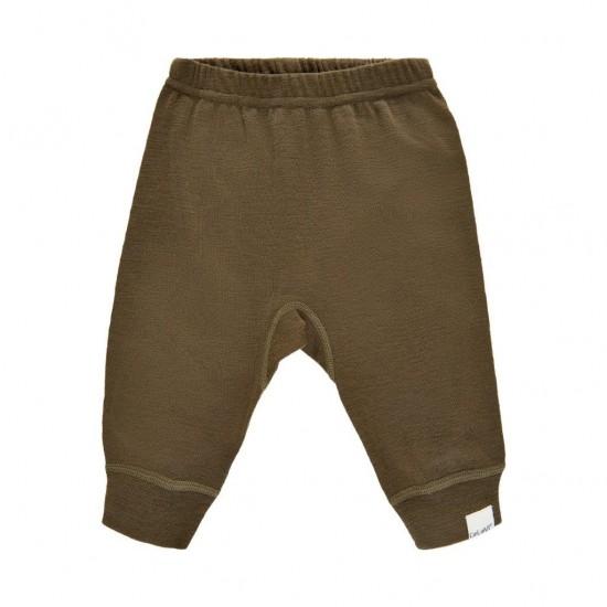 Pantaloni salvari din lana merinos - CeLaVi - Military Olive