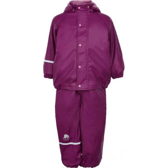 Set jacheta+pantaloni de vreme rece, ploaie si windstopper - CeLaVi - Beet Red