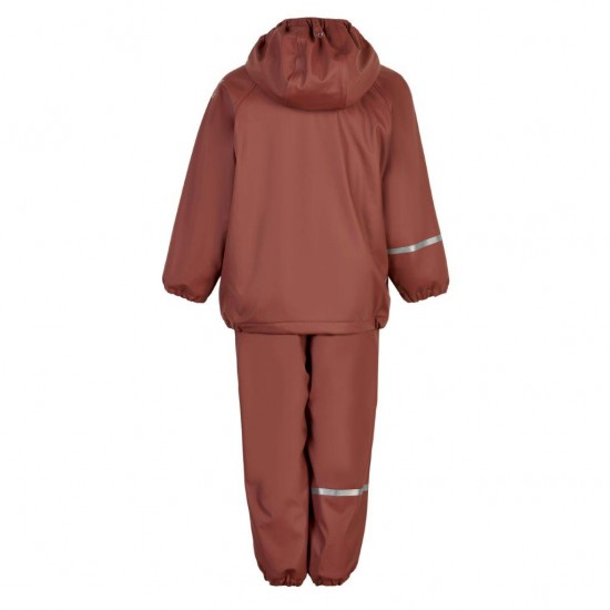 Mahogany - Set jacheta+pantaloni impermeabil, cu fleece, pentru vreme rece, ploaie si vant -CeLaVi