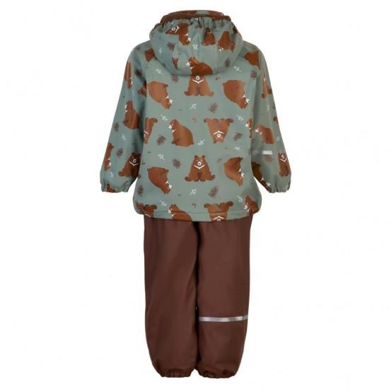 Bear Cub - Set jacheta+pantaloni impermeabil cu fleece, pentru vreme rece, ploaie si vant - CeLaVi