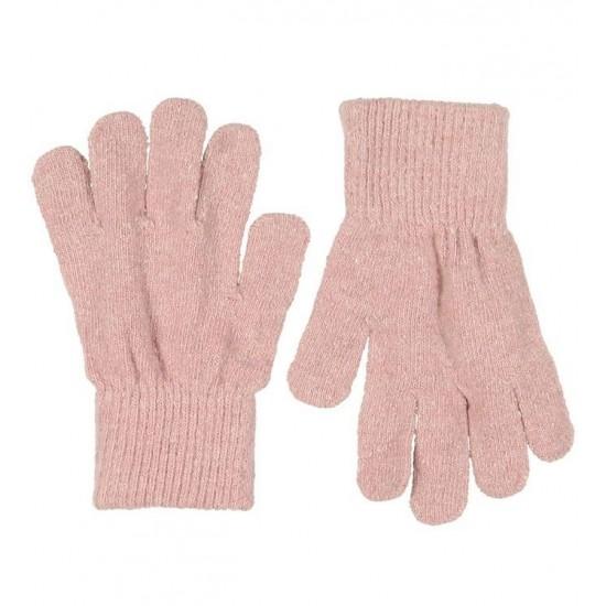 Misty Rose/Grey - Set 2 manusi tricotate cu lana merinos - CeLaVi