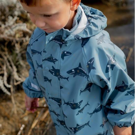 Set Baby Shark jacheta+pantaloni ploaie si windstopper - CeLaVi