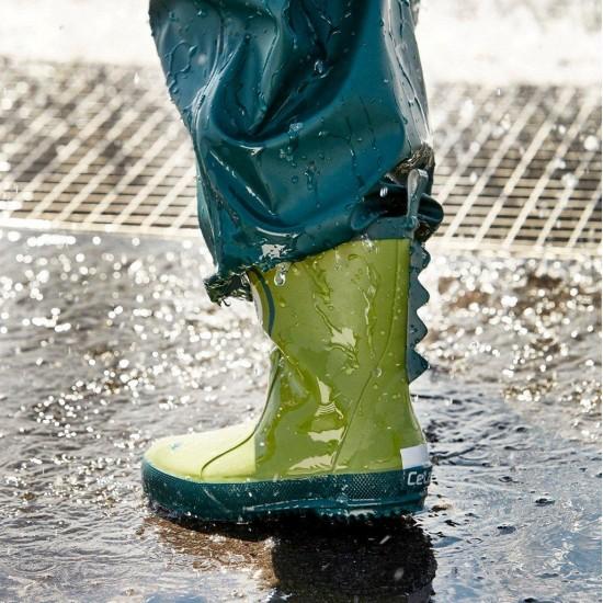 Cizme de ploaie din cauciuc natural - CeLaVi - Crocodile Galla Green