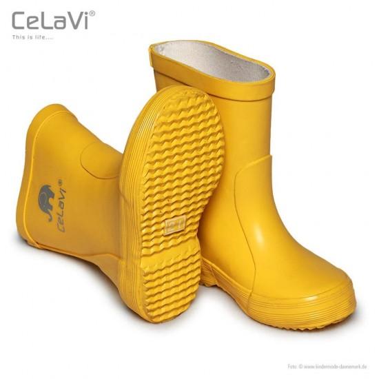 Cizme de ploaie din cauciuc natural - CeLaVi - Sunny Yellow