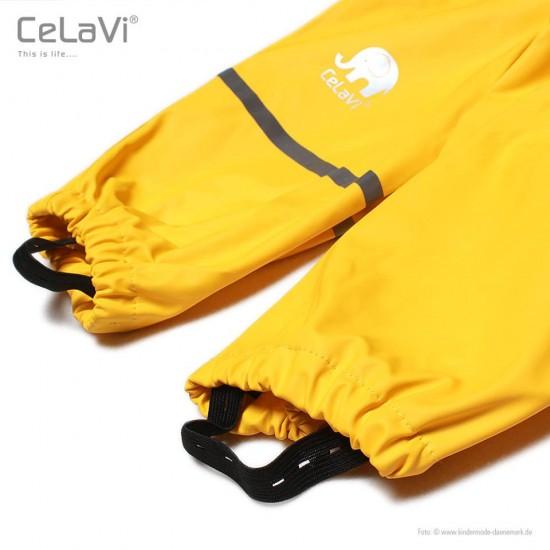 Salopeta de ploaie pentru copii, impermeabila - CeLaVi - Sunny Yellow