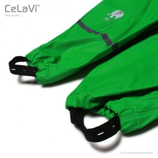 Salopeta de ploaie pentru copii, impermeabila - CeLaVi - Forest Green