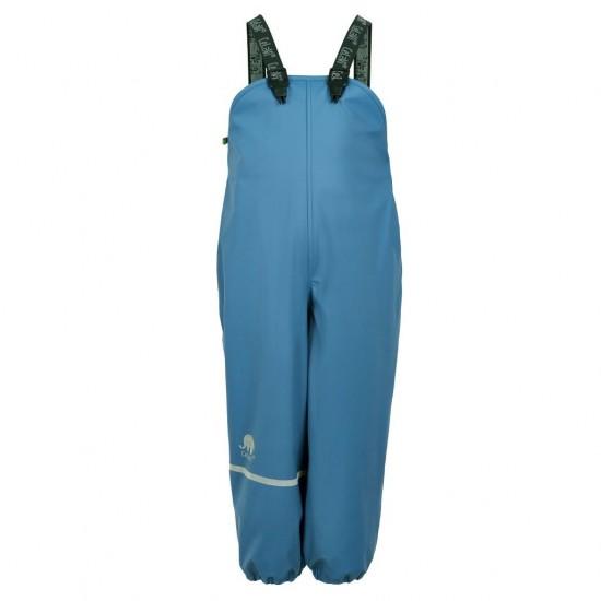 Winter Blue - Salopeta de ploaie si vreme rece impermeabila cu fleece