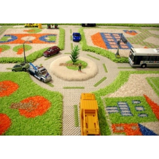 Covor 3D Green Town Traffic 160x230 cm