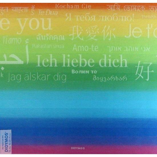 Wrap tesut Didymos - bumbac organic - Rainbow Love