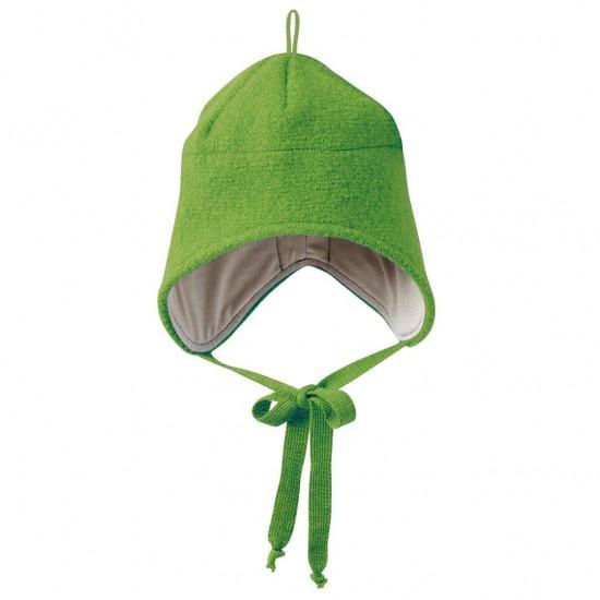 Caciulita din lana merino tumble/boiled - Disana - Green