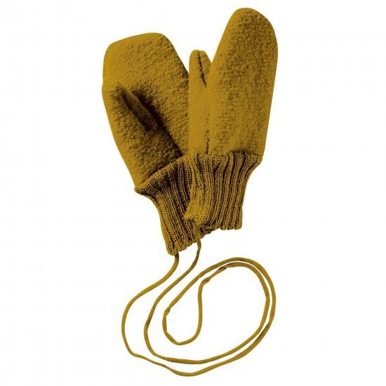 Manusi din lana merinos organica tumbled/boiled - Disana - Gold