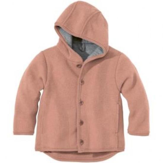 Jacheta din lana merinos organica - tumble/boiled wool - Disana - Rose