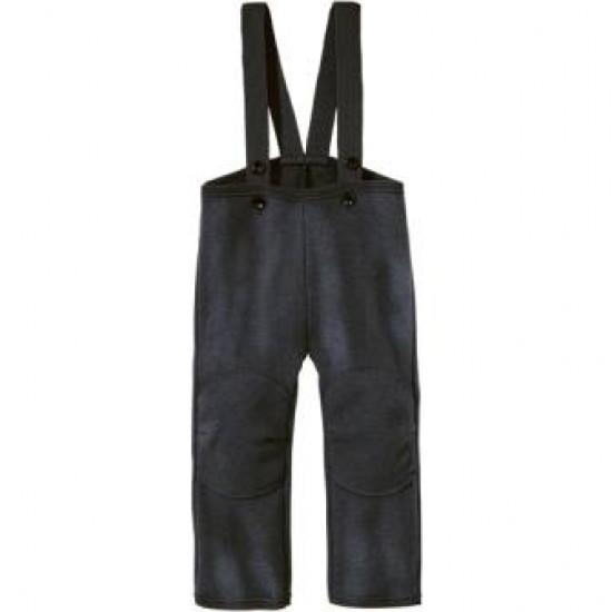 Pantaloni din lana merinos organica - tumble/boiled wool - Disana - Anthracite