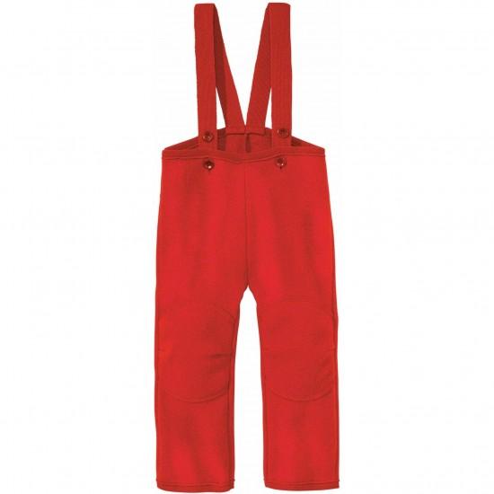 Pantaloni din lana merinos organica - tumble/boiled wool - Disana - Red