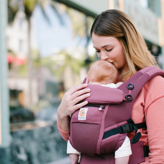 Marsupiu Original Ergobaby Adapt Cool Air Plum - 0 luni+