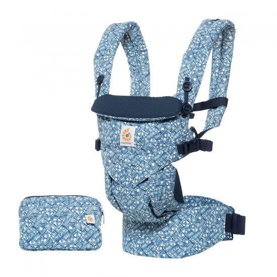 Marsupiu Original Ergobaby Omni 360 All in One - Batik Indigo