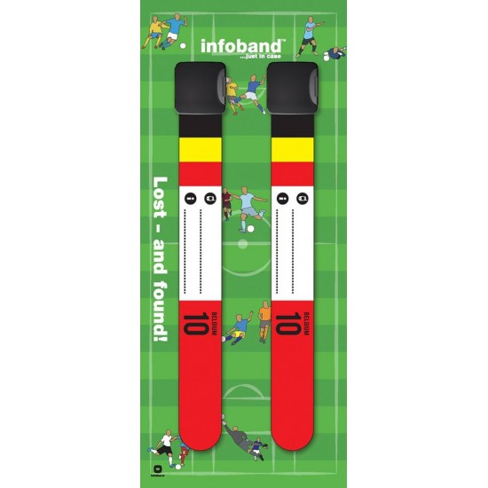 Bratara reutilizabila de identificare pentru copii infoband - set 2 bratari - Belgia