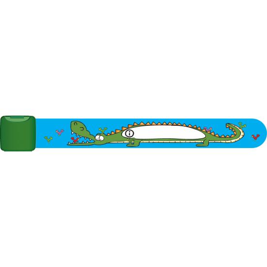 Bratara de identificare pentru copii infoband  - Crocodil