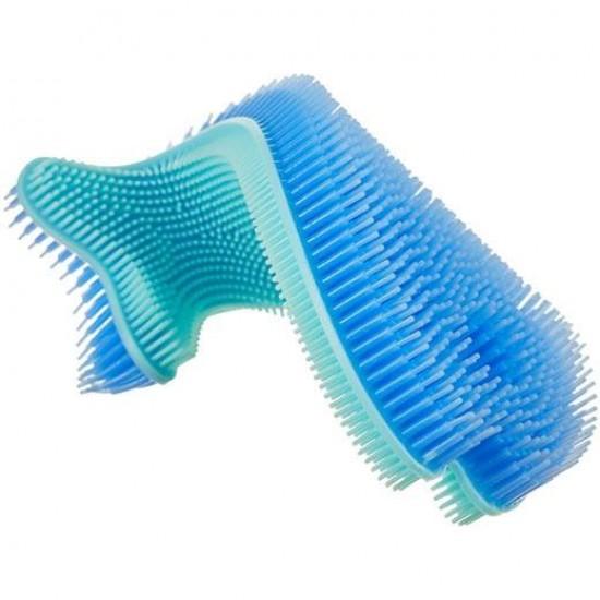 Burete antibacterian moale din silicon pentru baie - Innobaby - Blue