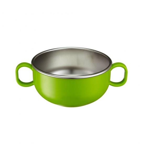 Bol mic de invatare cu manere - Din Din Smart Starter Bowl - Innobaby -  Green