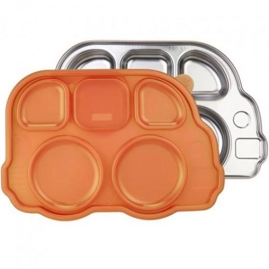 Tavita compartimentata cu capac - Din Din Smart Bus Platter - Innobaby - Orange