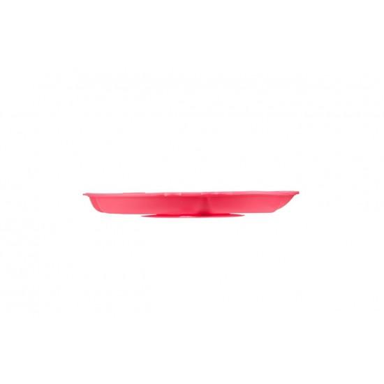 Tavita compartimentata din silicon, cu ventuza - Innobaby - Chicken Pink